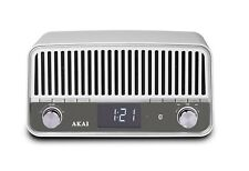 AKAI APR500WE – Retro FM Radio with Bluetooth Radio Connect Wireless Phone MP...