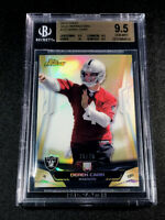 DEREK CARR 2014 TOPPS FINEST GOLD REFRACTOR 75/75 ROOKIE RC ALL BGS S 9.5 10 SUB