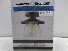 Globe Electric Vintage Semi-Flush Mount Oil Rubbed Bronze Ceiling Light; 452-24S