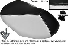BLACK & WHITE CUSTOM FITS YAMAHA AEROX YQ 50 100 99-10 FRONT LEATHER SEAT COVER