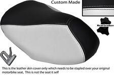 BLACK & WHITE CUSTOM FITS YAMAHA AEROX YQ 50 100 99-10 FRONT LEATHER SEAT COVER