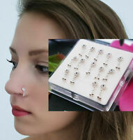 925 Silber Echt Nasenpiercing Nasenstecker Nasenring Stecker Piercing Beweglich