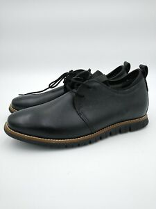 Hush Puppies Men's Colby Oxford Black Leather Sneakers Dress Shoes (Pick Size)
