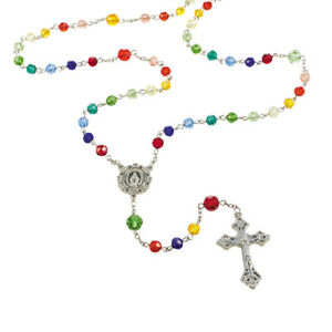 "Rosary of God's Promise 23"" Glass 8 mm Glass"