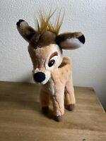 Adorable Vintage Walt  Disney Bambi Plush Soft Toy Plushie Hasbro Collectable