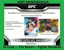 Khalil Rountree Jr. 2020 Topps UFC Knockout 1X CASE 12x BOX FIGHTER BREAK #5