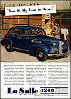 1939 La Salle Cadillac 4 door touring sedan car vintage photo print ad ads58