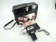CANON AUTO ZOOM 518 SUPER 8 CAMERA WITH C-8 ZOOM LENS 9.5-47.5MM & CASE UNTESTED