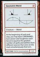 Geometric Weird  Mystery Booster Play Test MTG NM Magic Playtest