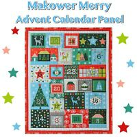 Makower Merry 2019 Christmas ~Advent Calendar~ Cotton Fabric 60cm Panel