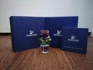 SWAROVSKI HAPPY FLOWERS RARE VIOLET FLOWER 855897 FIGURINE HEIGHT 4.7cm BRANDNEW