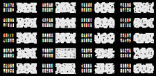 Reuseable Airbrush Nail Art Stencil 320 DESIGNS - 20 Template Sheets Kit Set 4