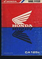 (42) REVUE TECHNIQUE MANUEL ATELIER MOTO HONDA CA125s