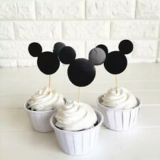 12pcs Disney Mickey Mouse cupcake Food TOPPERS. Lolly Loot Bag Party Supplies