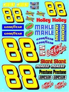 NUMBER 88 -coke - R/C MODEL Decal Sticker SHEET 1/12 - 1/10  - DIE CUT Nascar*^1