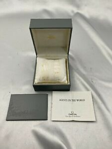 Genuine Omega Watch  Box rare grey case gray authentic  210201018 A281N