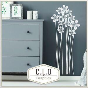Flower Vinyl Wall Sticker Transfer Decal Beautiful Floral Home Decor Art Graphic