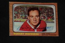BOBBY ROUSSEAU 1966-67 TOPPS SIGNED AUTOGRAPHED CARD #7 MONTREAL CANADIENS