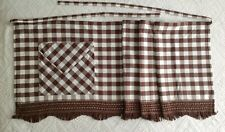 Wrap around skirt, brown check with a pocket
