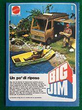 VV57 Pubblicità Advertising Clipping 19x13 cm (1978) BIG JIM ROULOTTE MATTEL