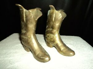 Vintage Brass Boots. Small.