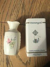 New Boxed Rare Donegal Irish Parian China Floral Rose Connaill Vase Small