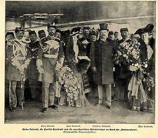 Prinz Heinrich v. Preussen & Familie Roosevelt Shooters Island Bilddokument 1902