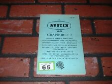 GENUINE AUSTIN A40 OWNERS ILLUSTRATED SPARE PARTS BOOK. 1960