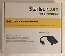StarTech USB-C to VGA Adapter - with Power Delivery (USB PD) - USB C Adapter -