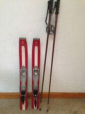 Vtg Salewa rare 99 cm 39''alpine touring mountain skis w Ramer bindings & poles