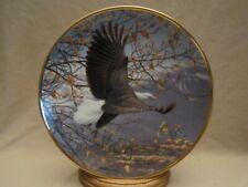 AUTUMN IN THE MOUNTAINS collector plate BALD EAGLE John Pitcher HAMILTON Seasons