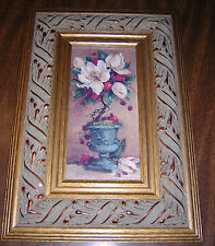 Barbara Mock Magnolia Topiary II Crown Fine Arts #5257 framed by Carolina Mirror