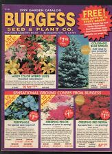 1999 BURGESS GARDEN CATALOG-SEEDS-BULBS-PLANTS-FLOWERS-GARDENS