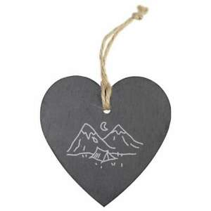 'Camping' Slate Heart Hanging Decoration (HE00007185)