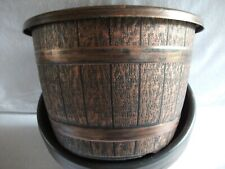 SPECIAL OFFER: 2 X 30CM (9.5 Litre)  COPPER BARREL PLANTER IN DIFFERENT SIZES.