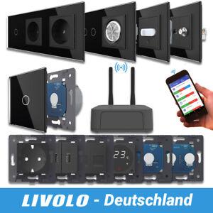 LIVOLO SmartHome WIFI Touch Funk Lichtschalter Steckdose Wechselschalter Schwarz