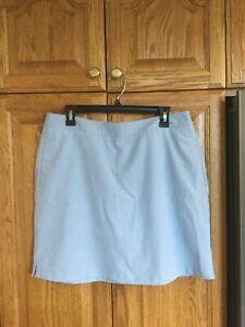 WOMENS GREG NORMAN GOLF SKIRT SHORTS  SIZE 12. Blue/white/Pink Pinstripe. NWOT
