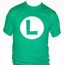 fm10 camiseta de hombre LUIGI super mario bros de patio nintendo VIDEOJUEGOS