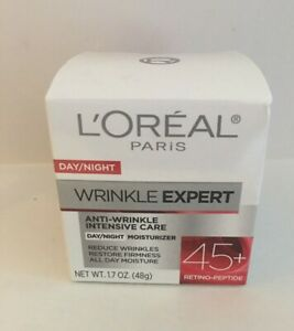 L Oreal Paris Wrinkle Expert 45+ Day Night Moisturizer 1.7 Oz