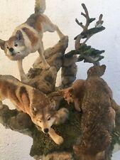 "Danbury Mint - ""The Hunt"" Sculpture by Nick Bibby Wolves"