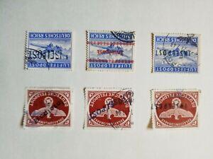 1944 Italia regno Inselpost Grecia occupazione Tedesca posta aerea lotto usata