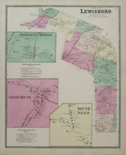 Original 1867 Beers Map LEWISBORO GOLDENS BRIDGE Westchester County New York