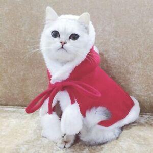 Pet Dog Christmas Costume Cloak Winter Warm Clothing Dog Christmas Shawl New