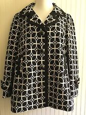 ETCETERA BLACK AND WHITE COAT SIZE 16 NWT