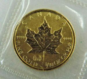 1997 1/10 oz $5 Gold Maple Leaf FAMILY Privy Coin 9999 Fine Au RCM Canada