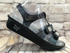 Alegria kleo glimmer glam metallic leather adjustable strap foot beds womens 8