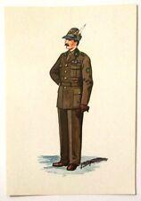 Cartolina Serie Uniformi Storiche 5° Reggimento Alpini - N.18 Colonnello Deg