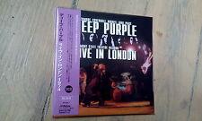 2 CD IMPORT JAPON AVEC OBI DEEP PURPLE - LIVE IN LONDON / copie russe / neuf