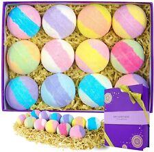 Bath Bombs Gift Box for Women, Premium 3.2oz Essential Oil Fizzies Spa Relax