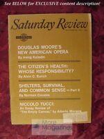 Saturday Review October 28 1961 DOUGLAS MOORE ALBERTO MORAVIA NICCOLO TUCCI